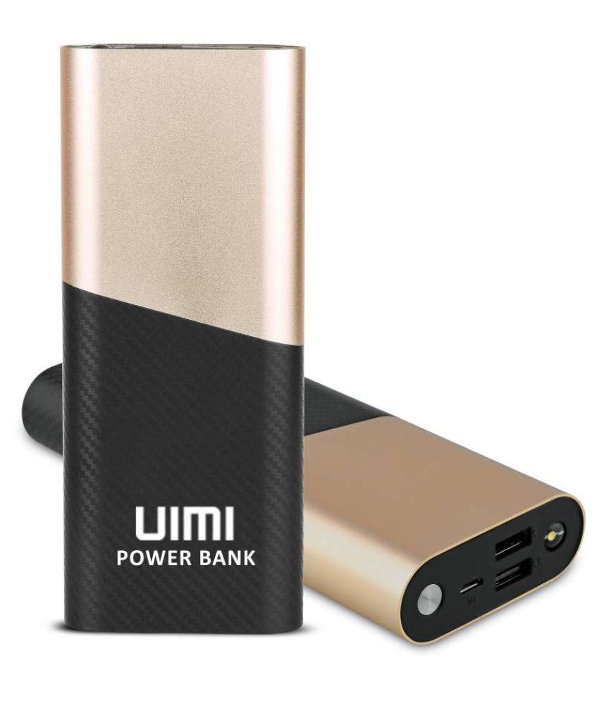 UIMI U1 (15600mAh) Power Bank Chrome Metallic Texture With Digital Display & Dual Port