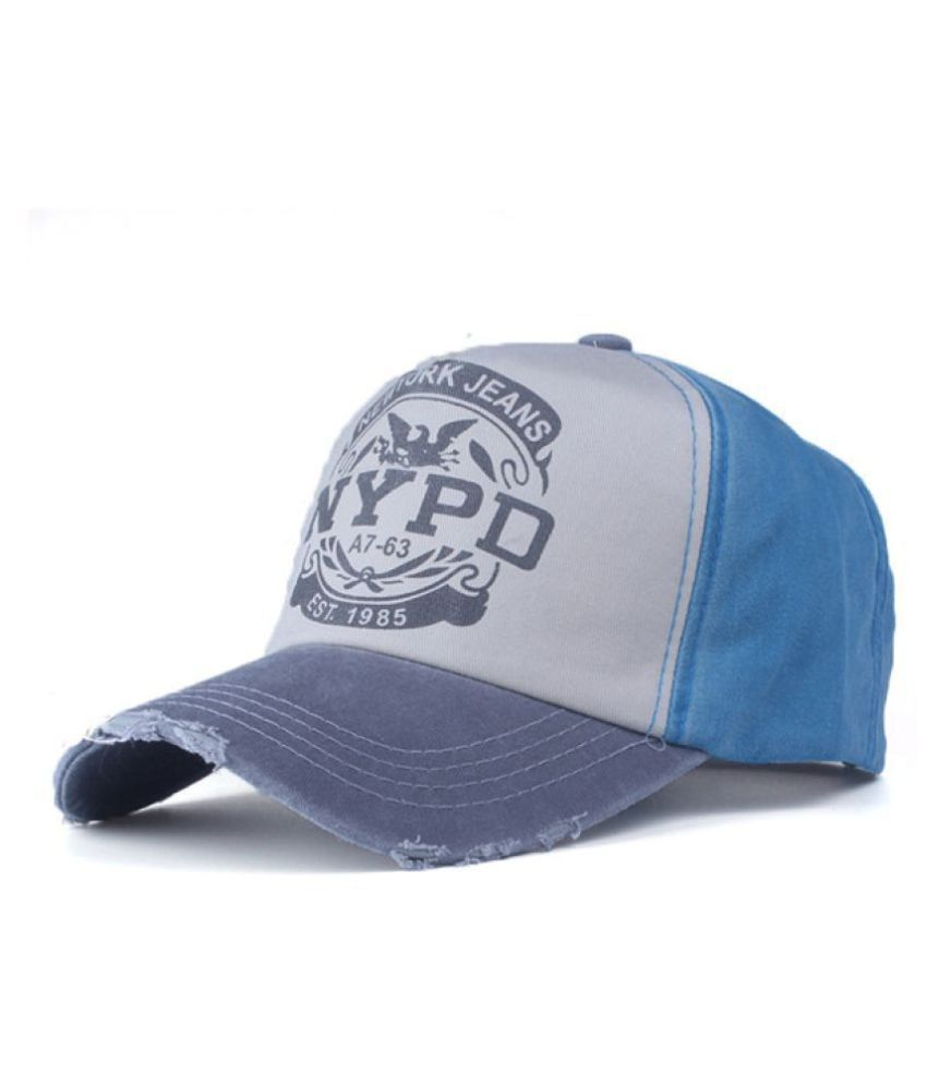 fdb371f2310 DALUCI Baseball Cap Fitted Hat Casual Cap Gorras 5 Panel Hip Hop Snapback  Hats Wash Cap For Men Women Unisex (Grey   Blue)  Buy Online at Low Price  in India ...
