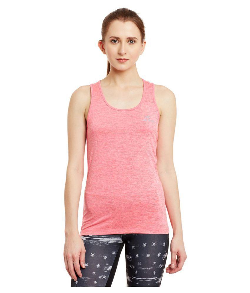 Alcis Women Solid Pink Top