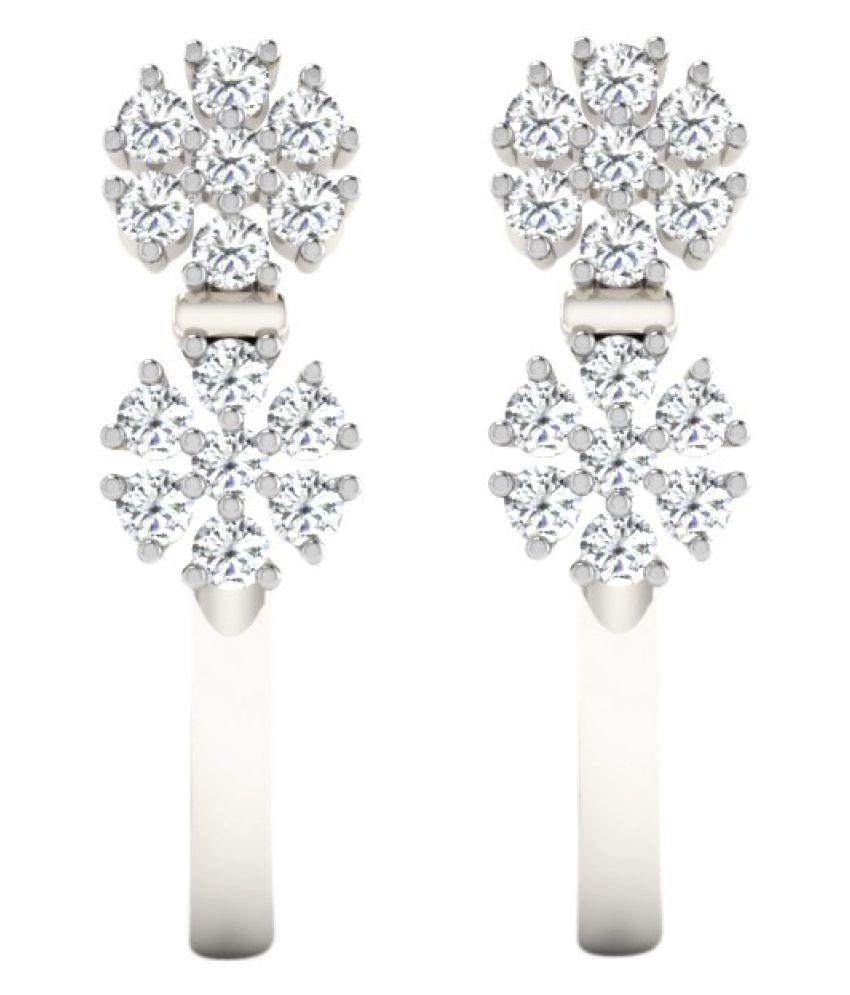 His & Her 14k White Gold Diamond Hangings