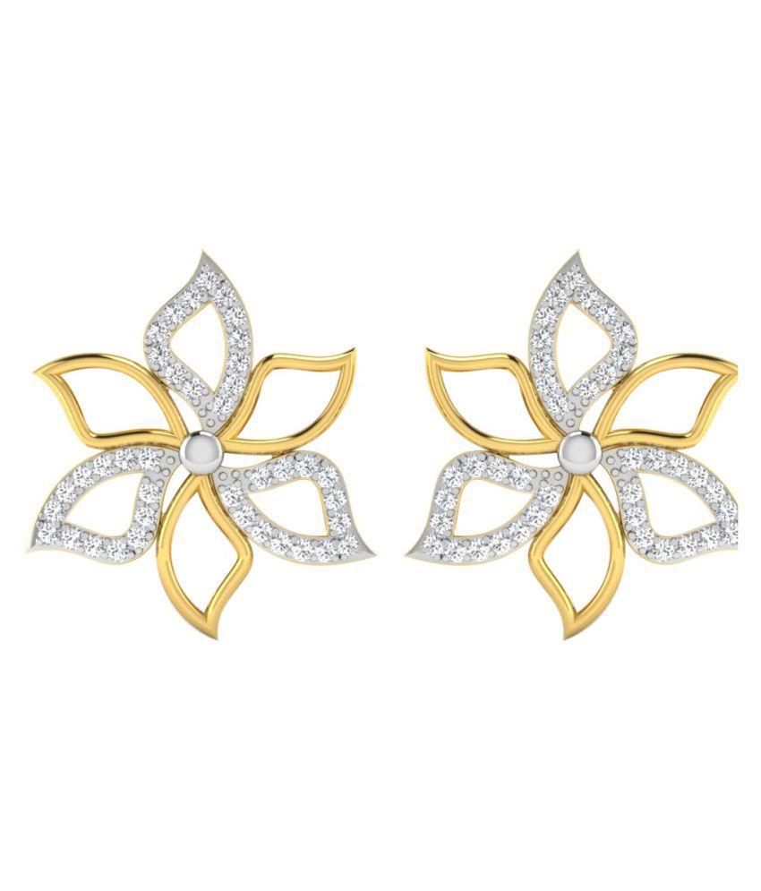 His & Her 14k Yellow Gold Diamond Studs