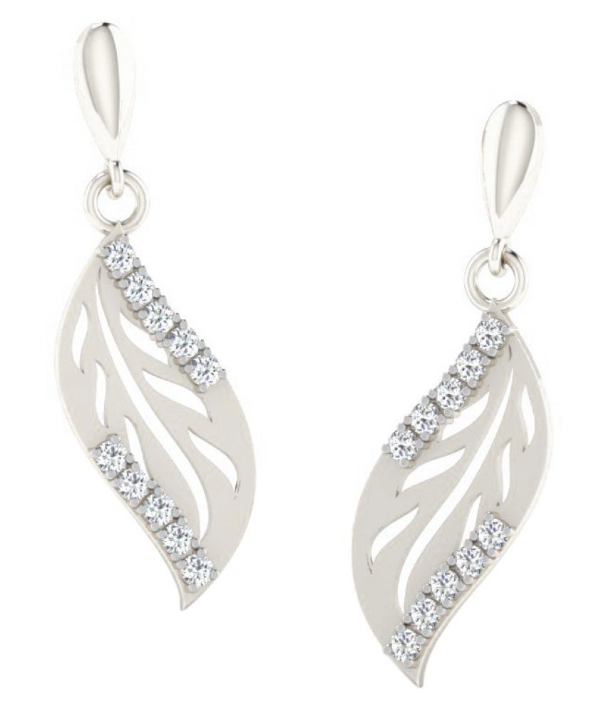 His & Her 14k White Gold Diamond Drop Earrings