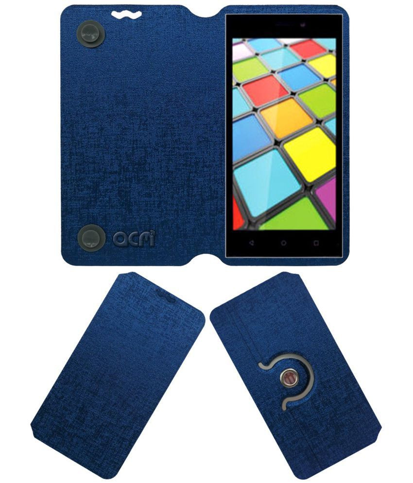 Iball Andi Sprinter 4g Flip Cover by ACM - Blue