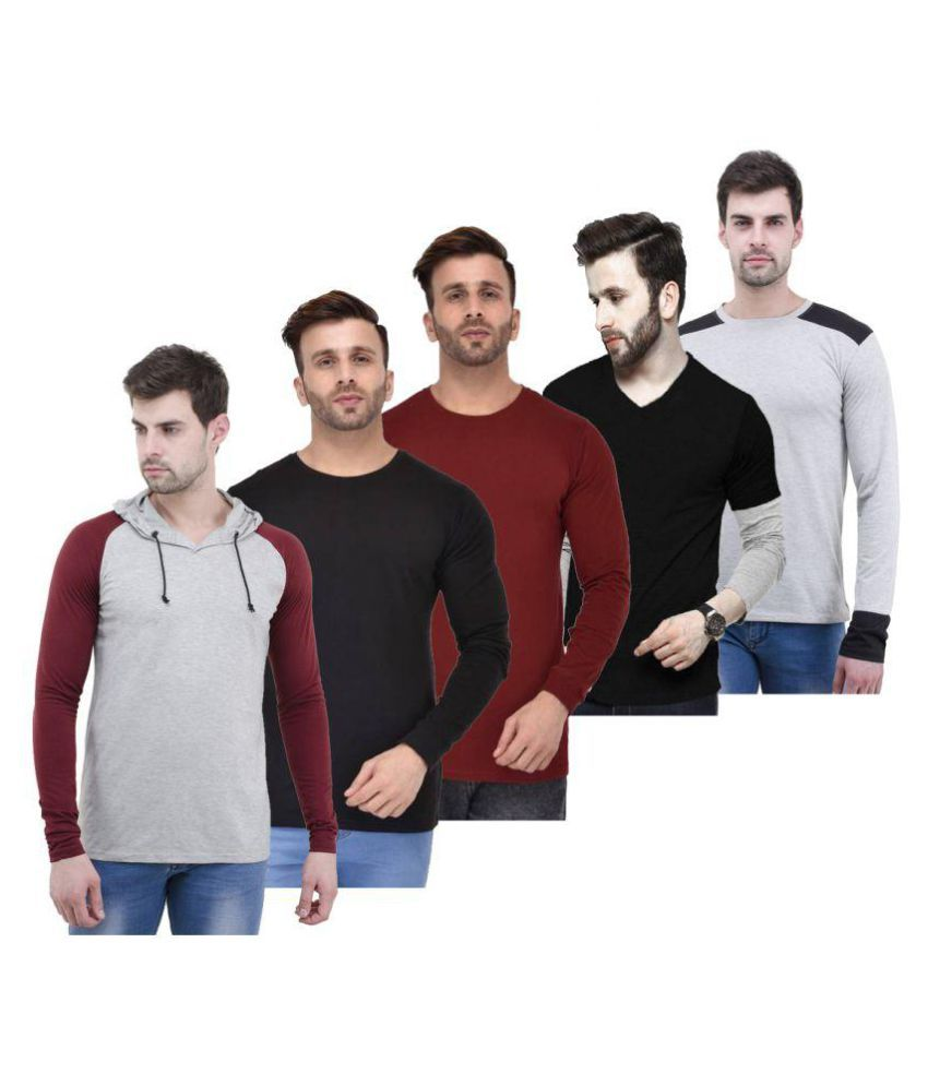 Lime Black Round T-Shirt Pack of 5