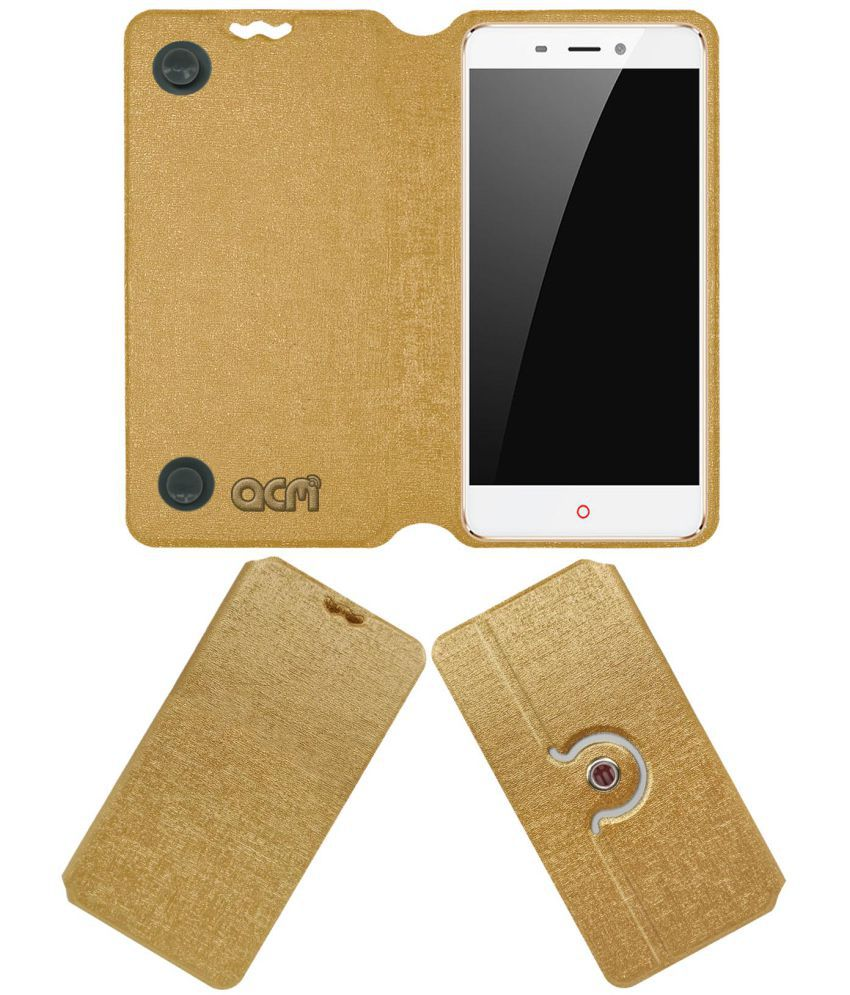 Nubia N1 Flip Cover by ACM - Golden