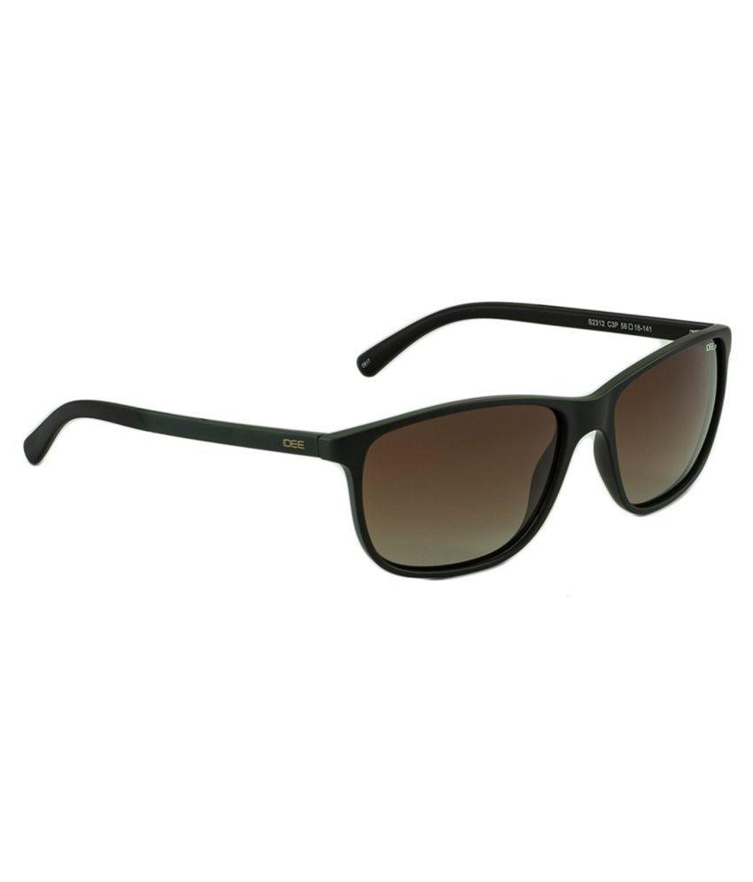 Idee Brown Square Sunglasses ( IDS2312C3PSG )