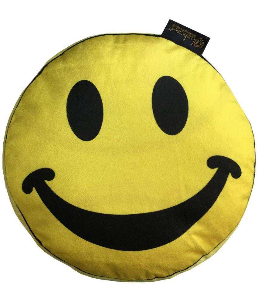 Lushomes Single Yellow Velvet Filled Cushion