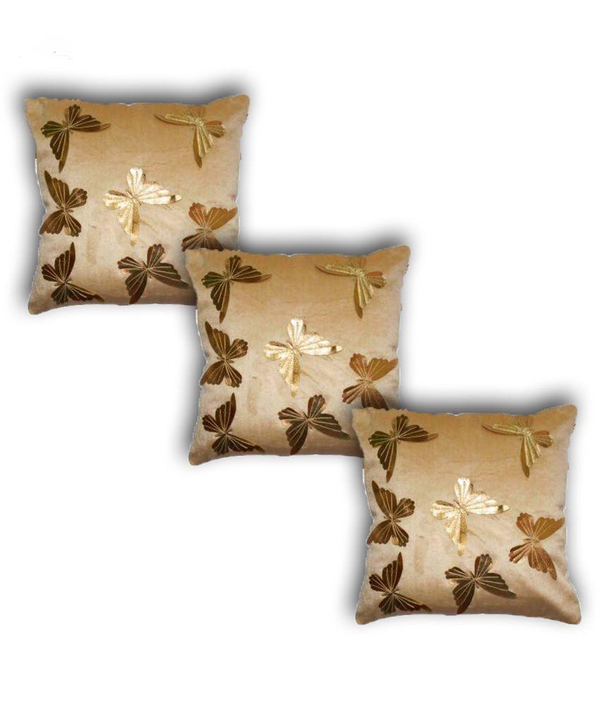 K.s.craft Set of 3 Velvet Cushion Covers 40X40 cm (16X16)