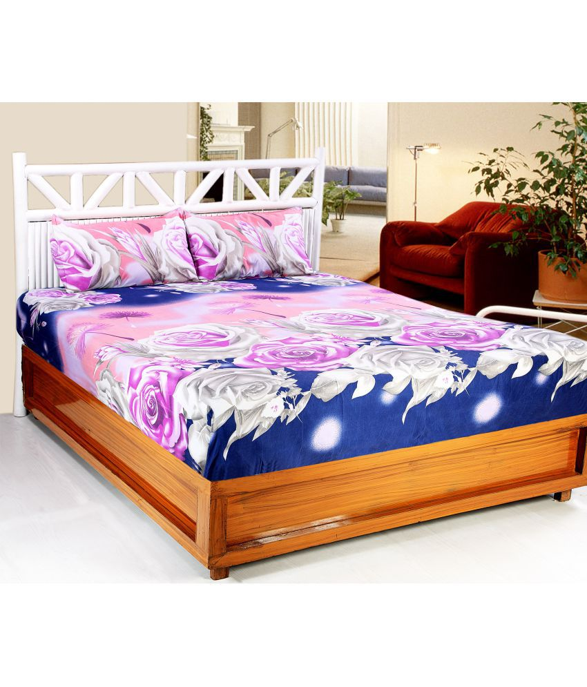 Valtellina Microfibre Double Bedsheet with 2 Pillow Covers