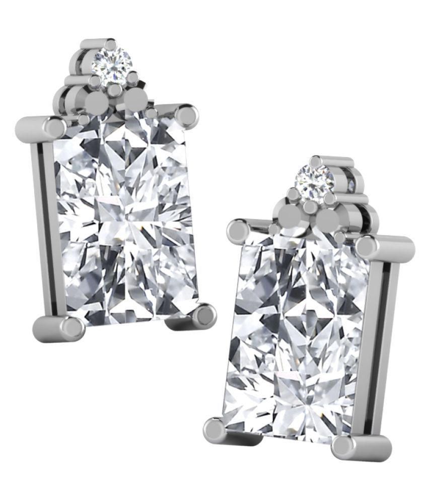 His & Her 9k White Gold Sapphire Studs