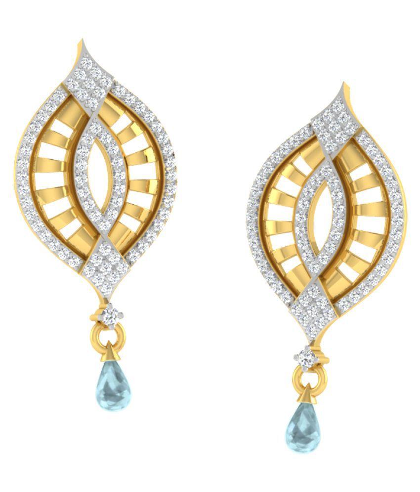 His & Her 9k Yellow Gold Aquamarine Drop Earrings