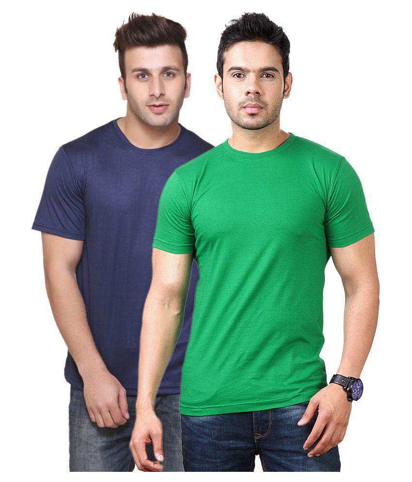 FUNKY GUYS Multi Round T-Shirt Pack of 2