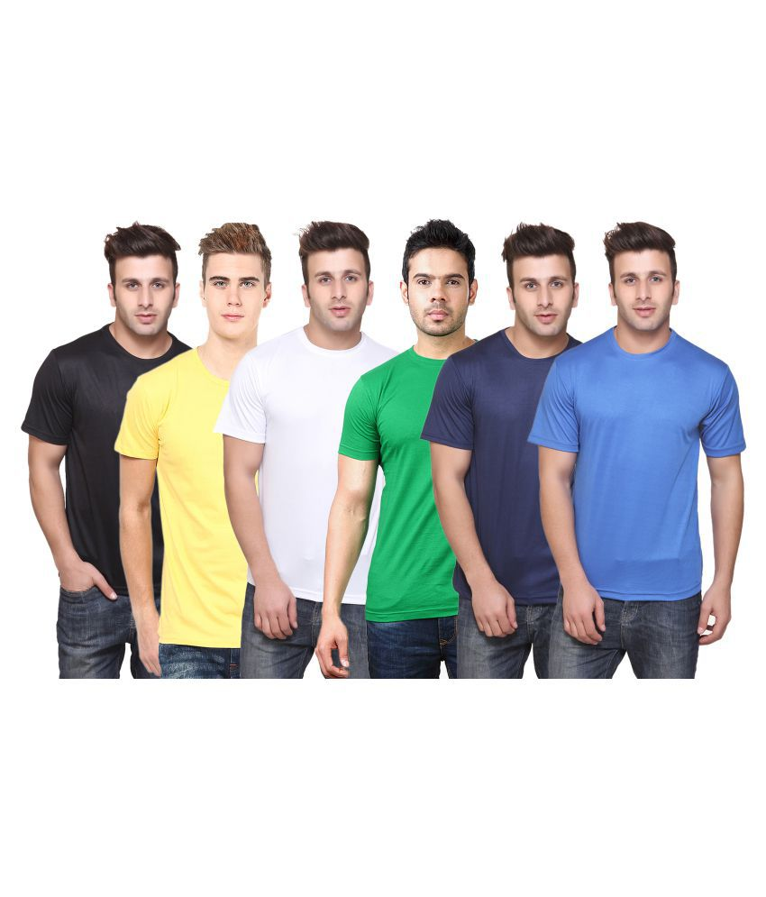 CONCEPTS Multi Round T-Shirt Pack of 6