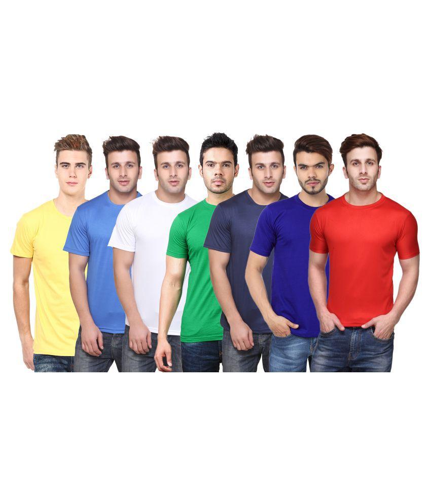 FUNKY GUYS Multi Round T-Shirt Pack of 7