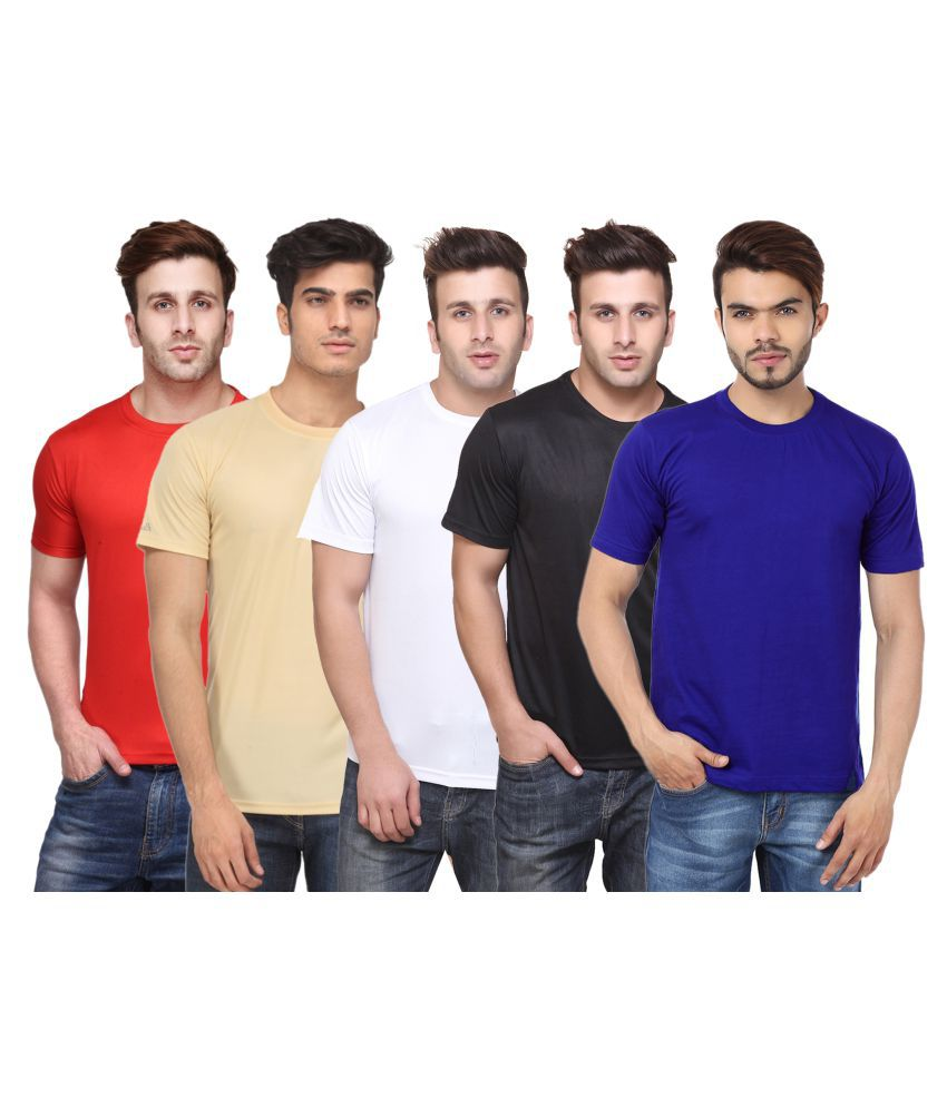 FUNKY GUYS Multi Round T-Shirt Pack of 5