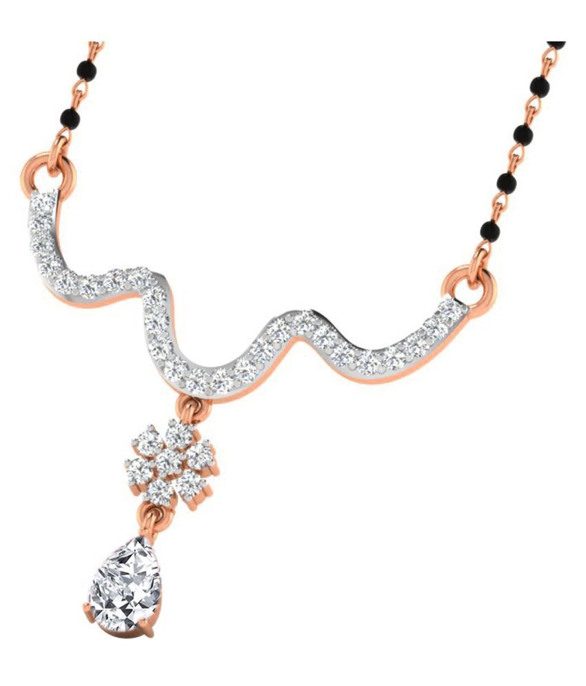 His & Her 9k Rose Gold Sapphire Mangalsutra
