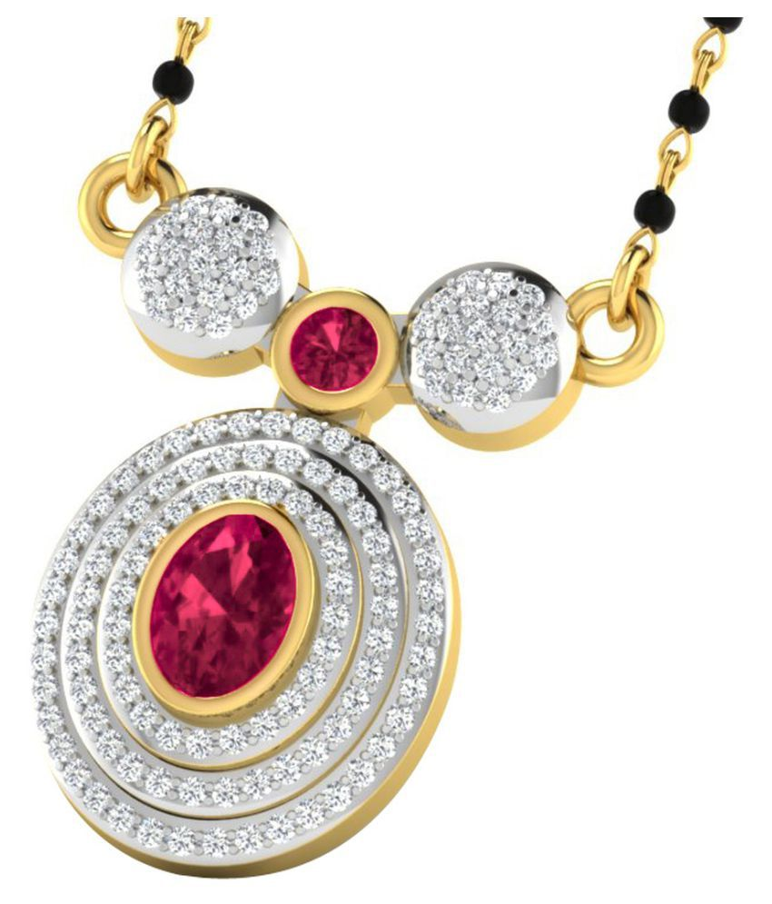 His & Her 9k Yellow Gold Ruby Mangalsutra