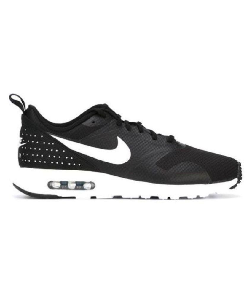 new styles 283f9 59785 Nike Air Max Tavas Black Running Shoes - Buy Nike Air Max Tavas Black  Running Shoes Online at Best Prices in India on Snapdeal
