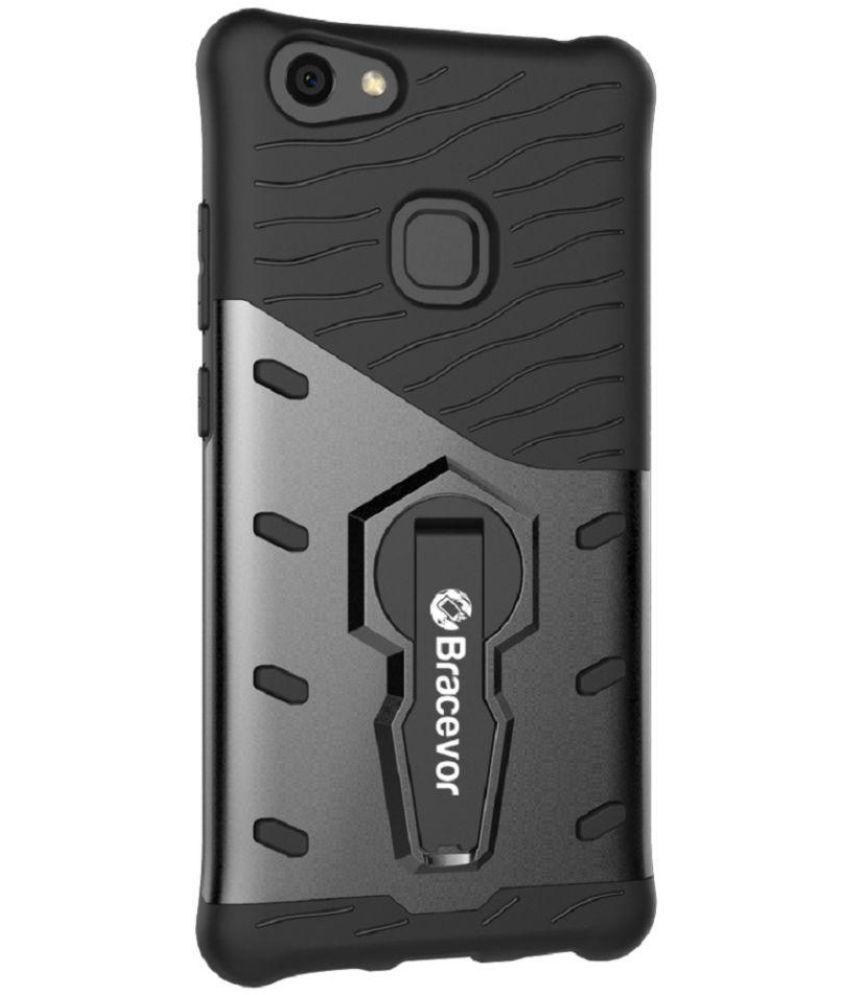 vivo V7 plus Cases with Stands Bracevor - Black