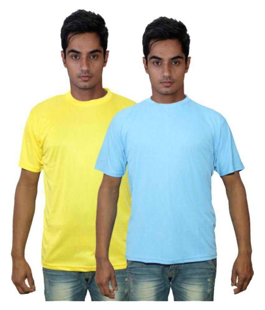 Dfnk Atlanta Multi Cotton T-Shirt Pack of 2