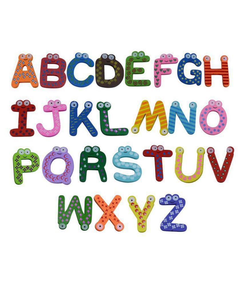 Saamarth Impex Learning Educational Wooden A-Z Wooden Alphabets Letters Puzzle Kids Toys Baby Preschool Toddler SI-5715