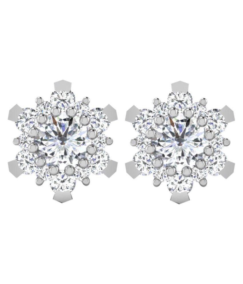His & Her 92.5 Silver Diamond Studs