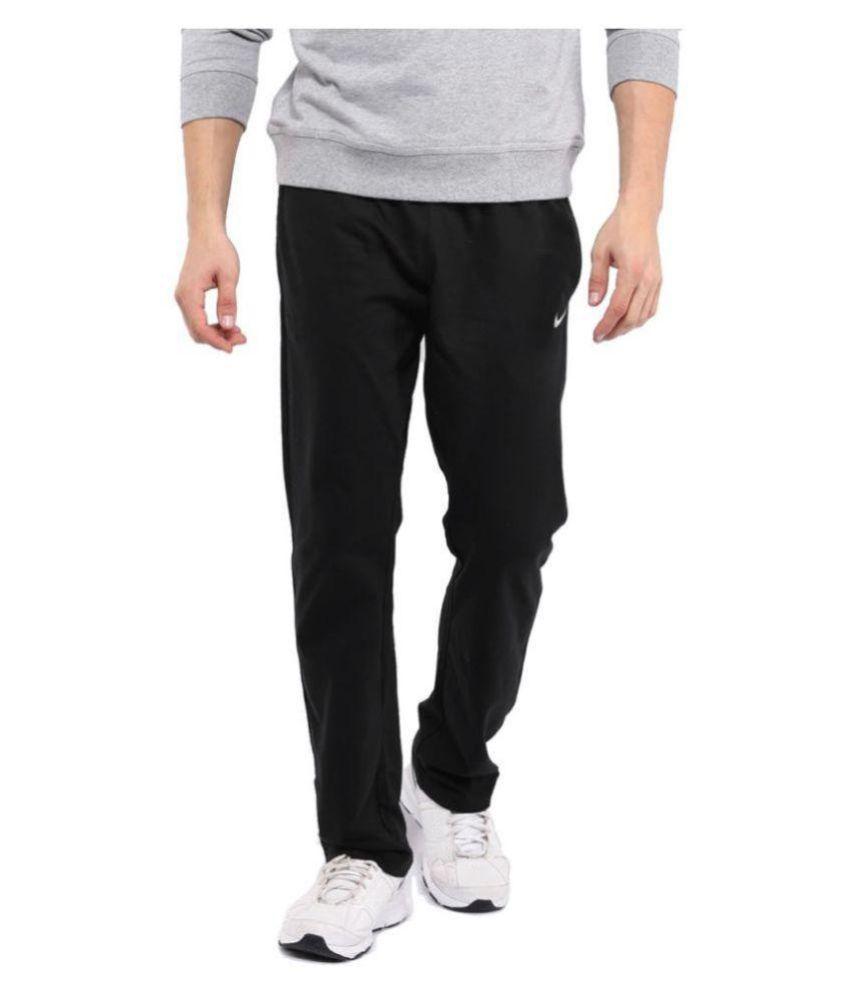 Nike Black Polyester Traveling Track Pant for Men