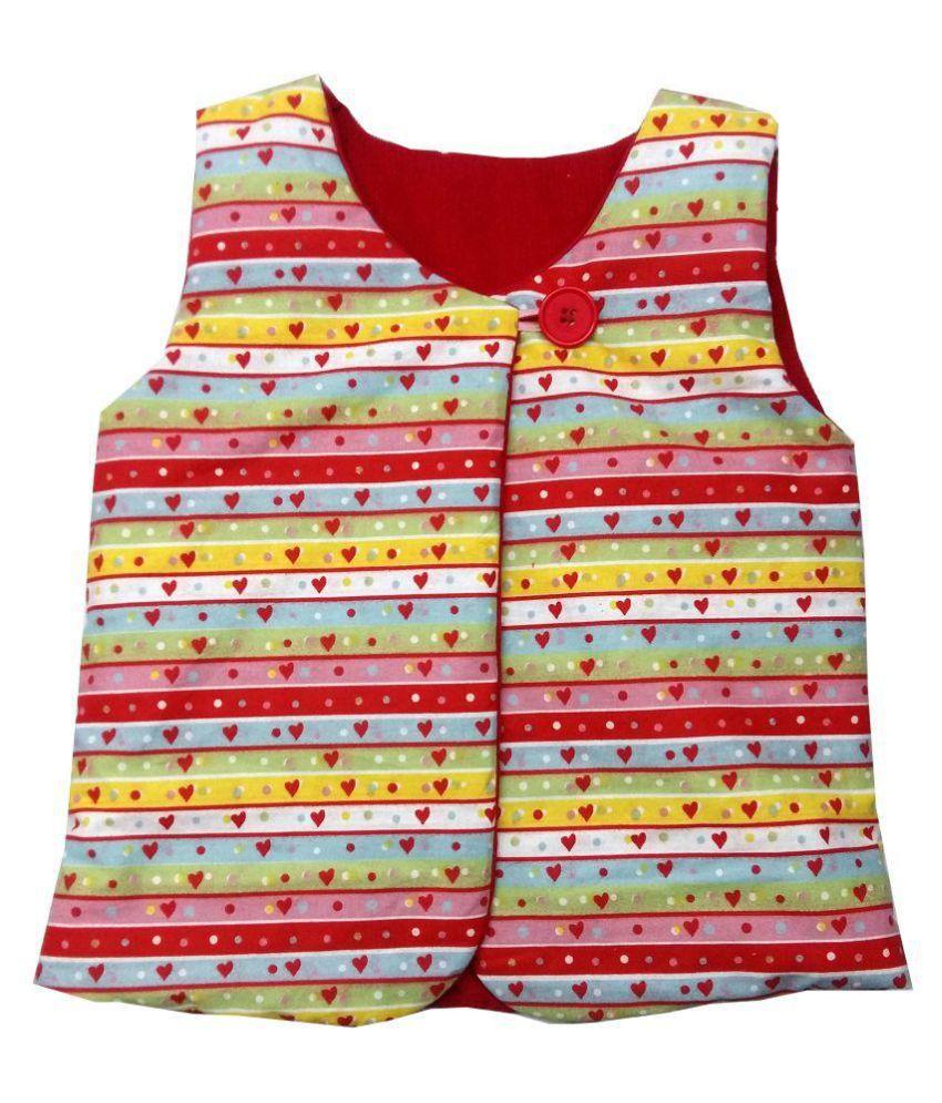 Always Kids Red Corduroy Candy Heart Jacket