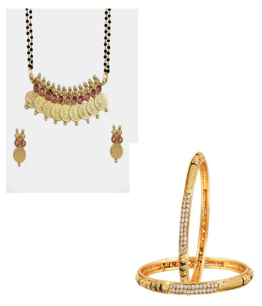 Bhagya Lakshmi Traditional Gold Plated Bangles Combo For Women