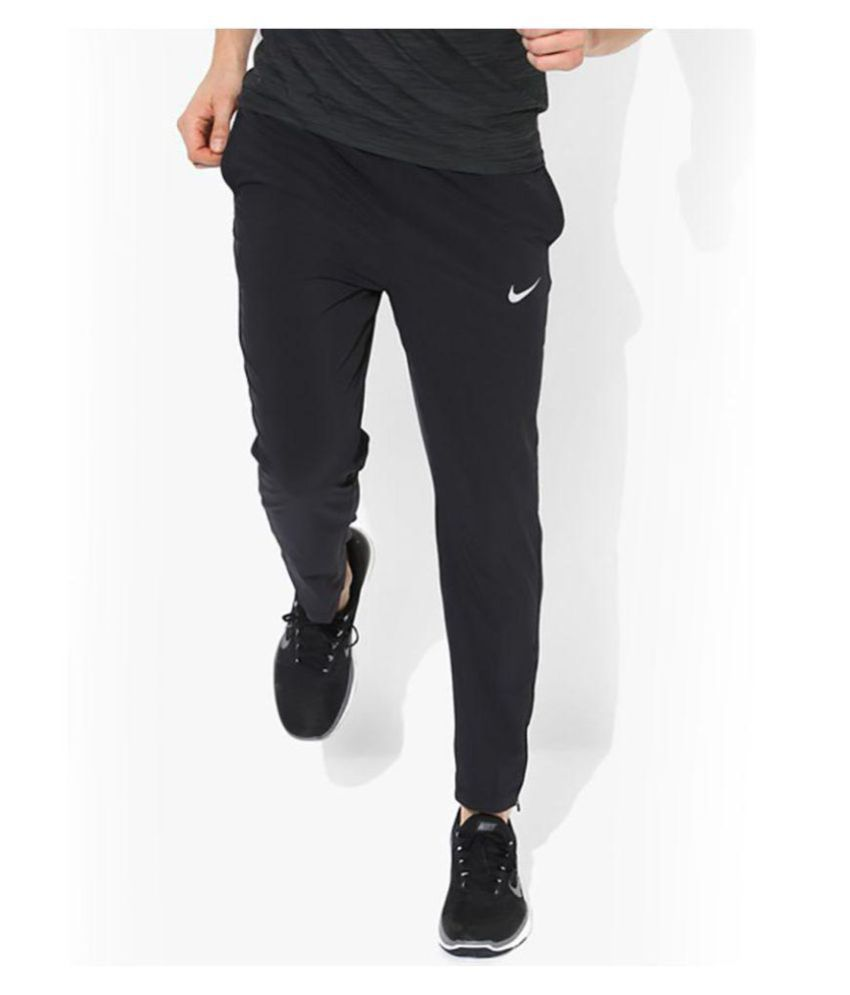 Nike Black Polyester Track Pant for Jogging