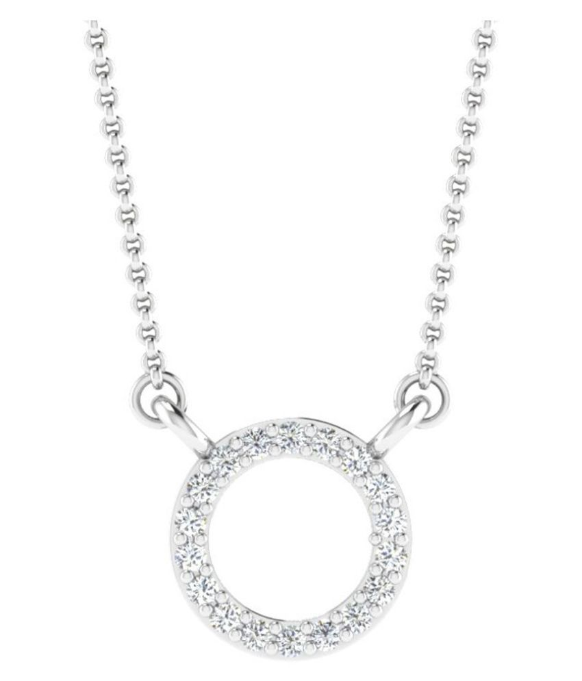 His & Her 9k White Gold Necklace