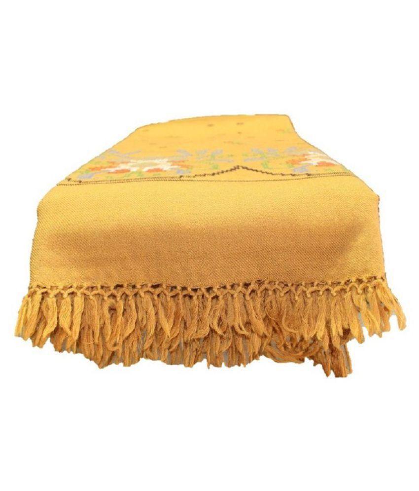 HimalayanKraft Yellow Loom-Woven Shawl