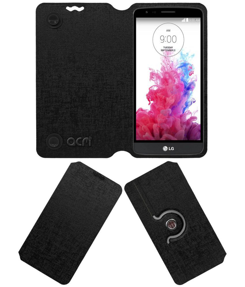 new concept c49dc aaefd Lg G3 Stylus Flip Cover by ACM - Black