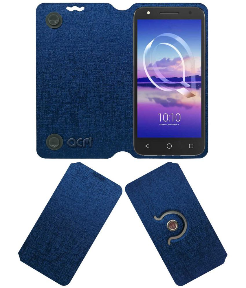 separation shoes 1fee4 c827e Alcatel U5 Hd Flip Cover by ACM - Blue