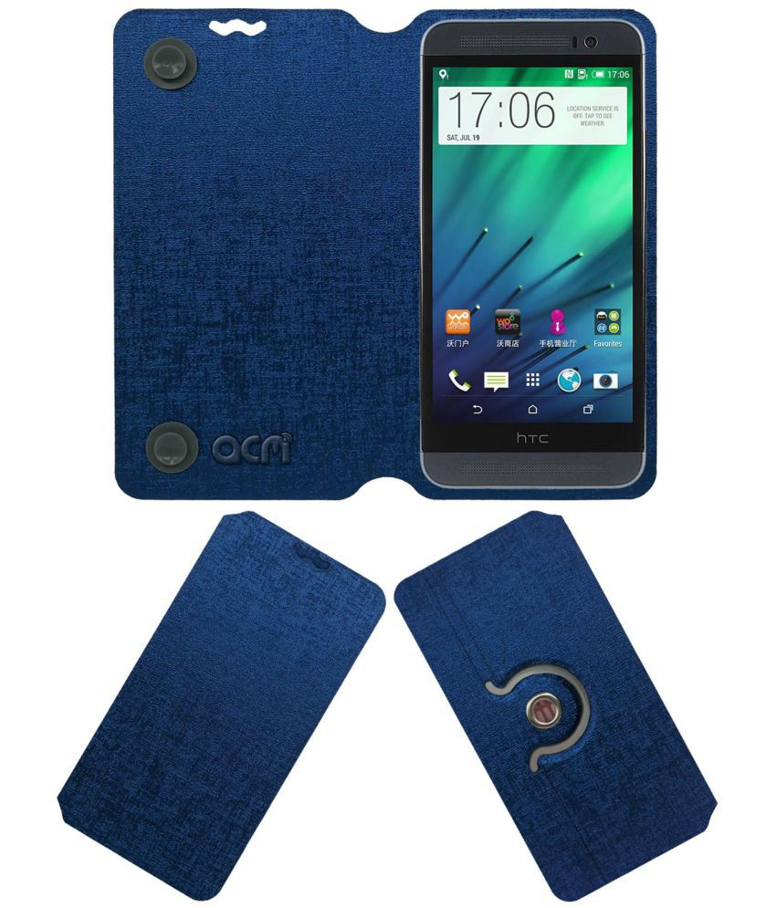 HTC One E8 Flip Cover by ACM - Blue