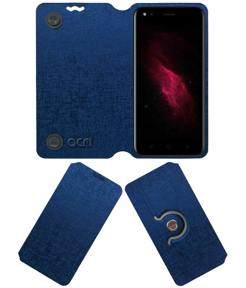 Micromax Canvas 1 C1 Flip Cover by ACM - Blue