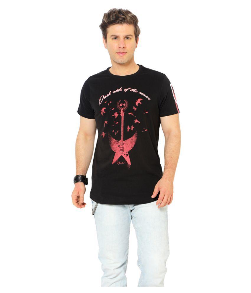 Ricochet Black Round T-Shirt