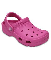 Crocs Pink Crocs Coast Clogs for Boys & Girls