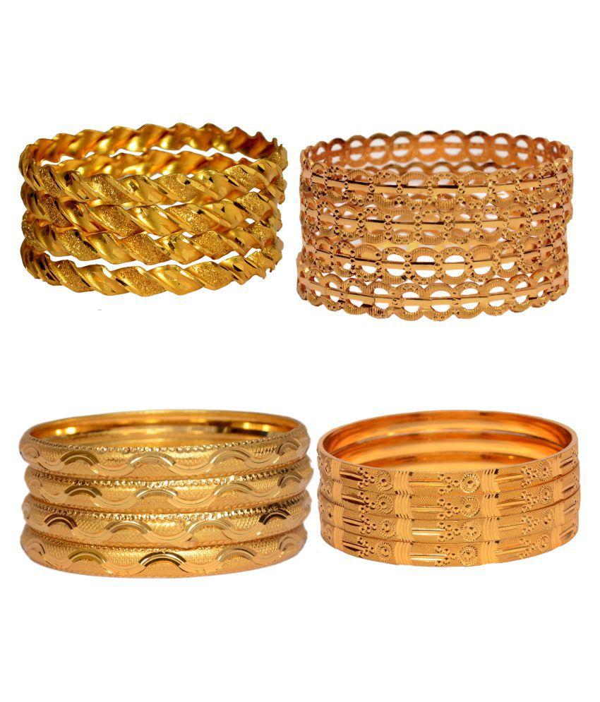 Mansiyaorange Sixteen Original Look One Gram Gold Bangles For Women