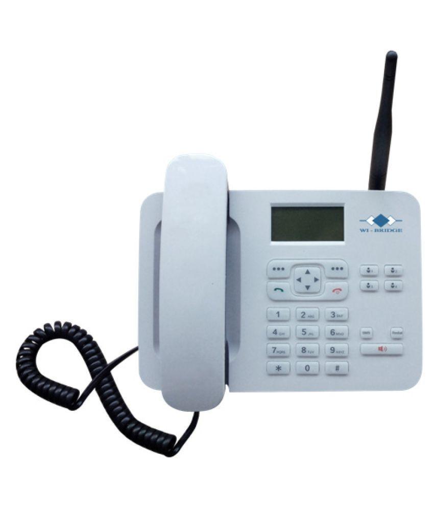 wi-bridge RM2G102 Wireless GSM Landline Phone ( White )