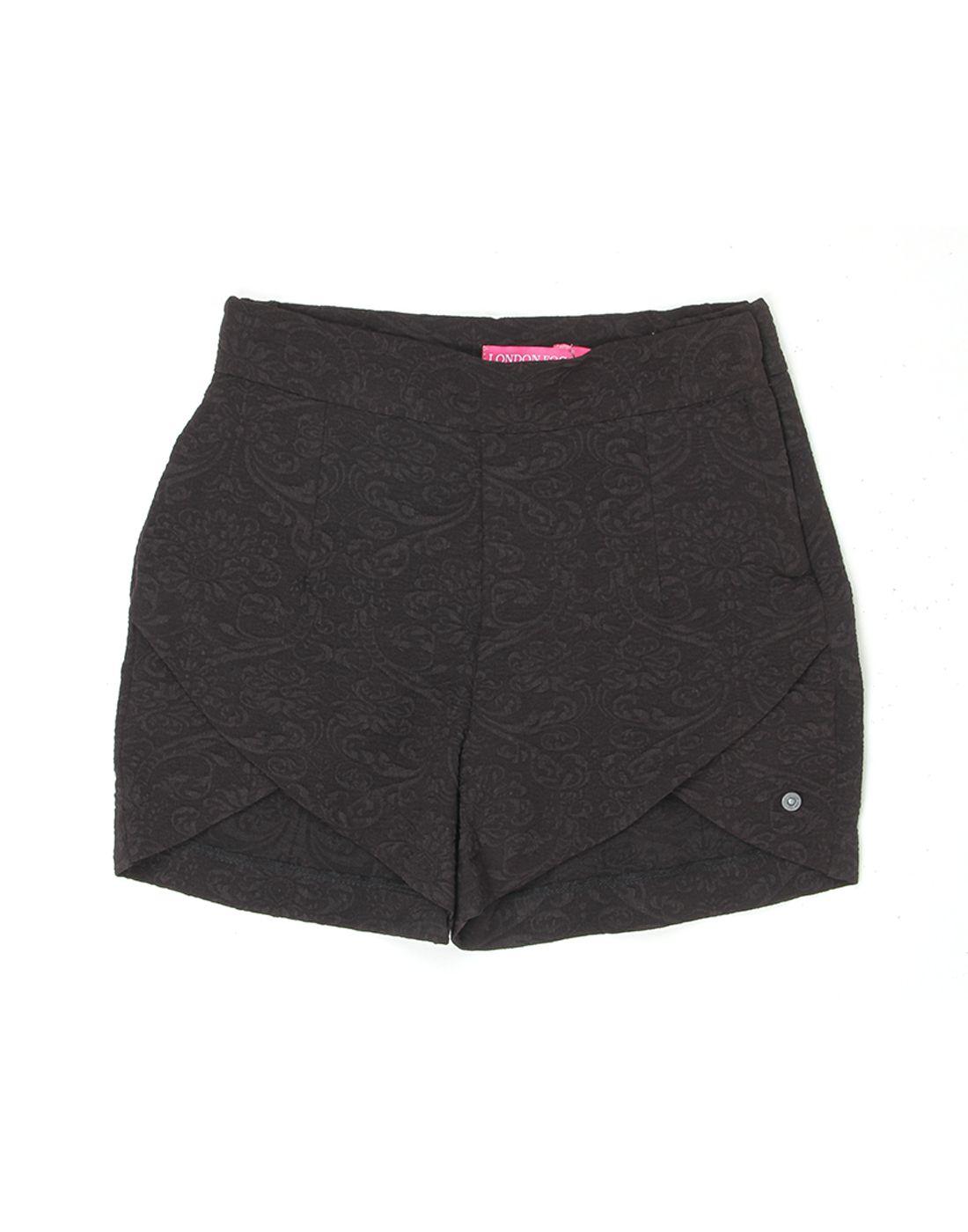 London Fog Girls Black  Short