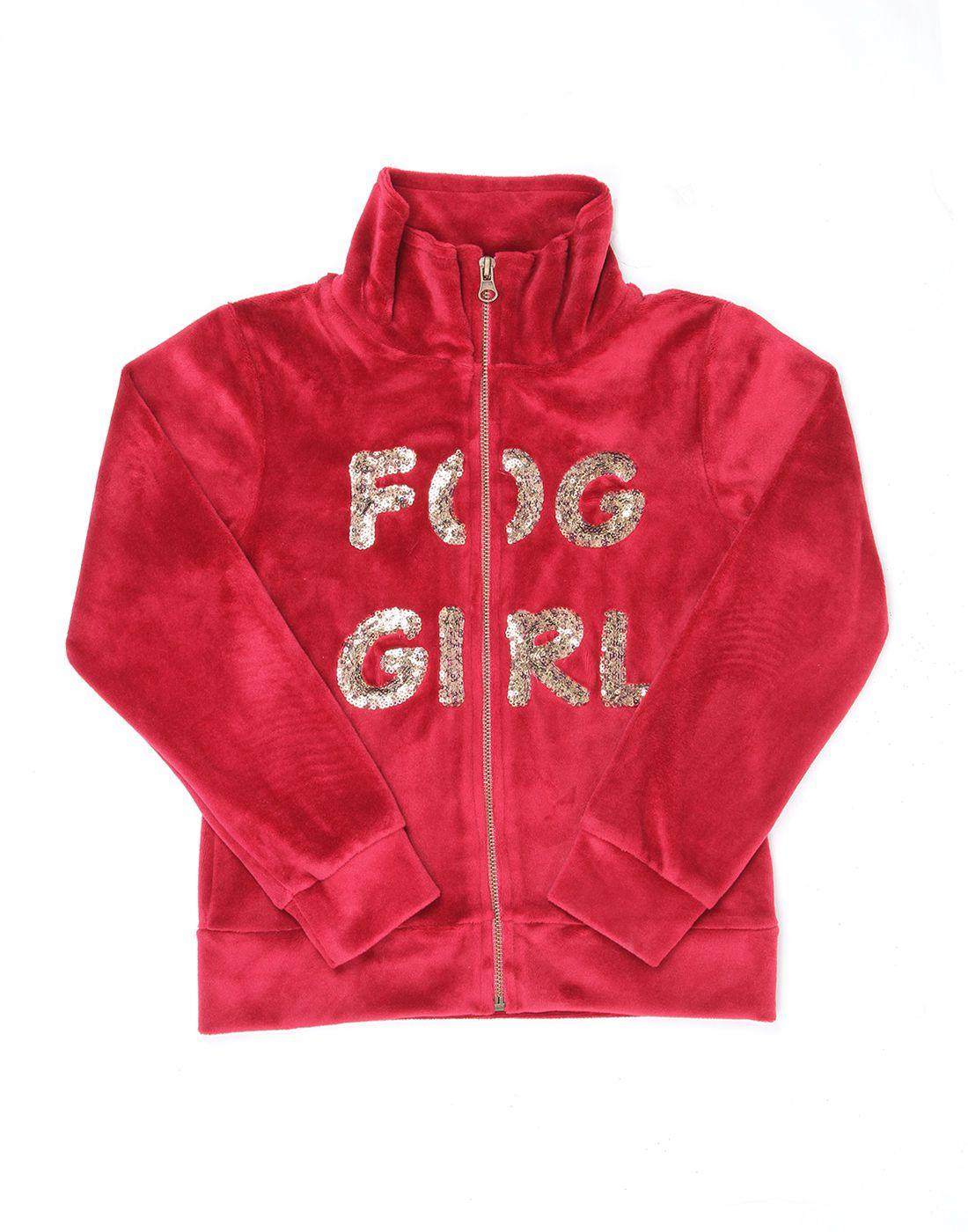 London Fog Girls Maroon Full Sleeve Jacket