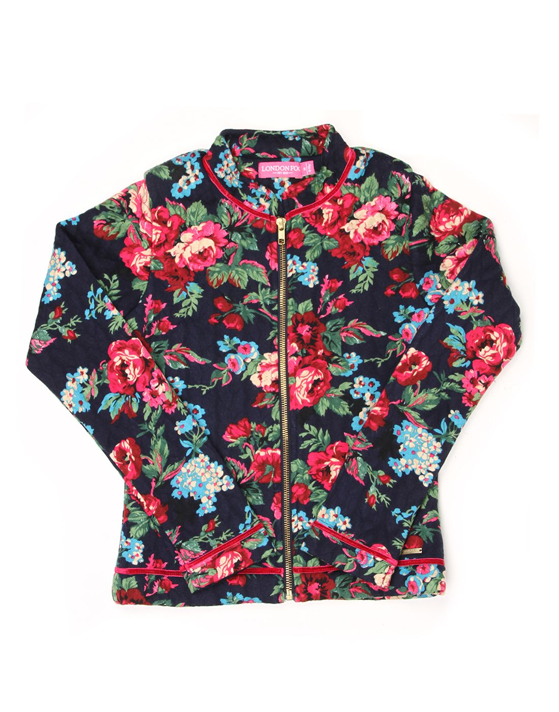 London Fog Girls Multi Full Sleeve Jacket