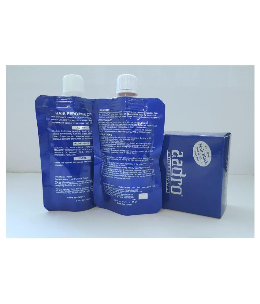 Aadro Semi Permanent Hair Color Black Black 100 Ml Pack Of 2 Buy