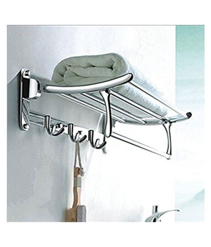 Handy Folding Towel Rack Stainless Steel Towel Rack-18 Inches