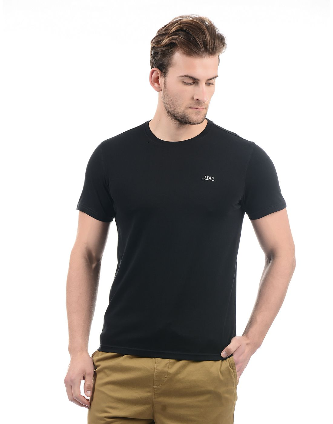IZOD Black Round T-Shirt