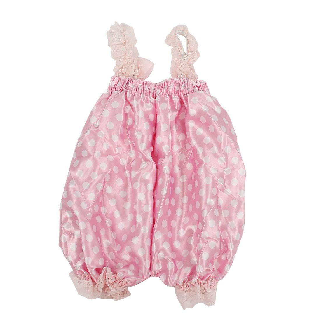 e14d85c3e93f PoshTots Newborn Infant Baby Girl Pink Dot foundation Ruffle Rompers Dress  One-Piece Tutu Lace Clothes (1-2 yrs) - Buy PoshTots Newborn Infant Baby  Girl ...