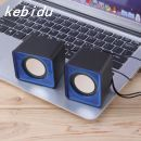 WowObjects  Mini Portable USB 2.0 Couple Music Player 2-Channel 3.5mm Jack MP3 Speakers for Computer Notebook Home Theater