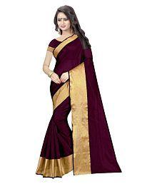 Fab Ikshvaku Purple Cotton Silk Saree