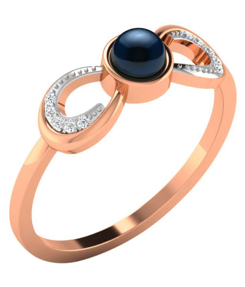 His & Her 14k Rose Gold Ring